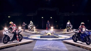 Video: World's Strongest Man competitor restrains four motorcycles in nail biting record attempt